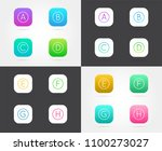 set of app icon templates with... | Shutterstock .eps vector #1100273027