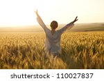 Woman With Arms Outstretched I...