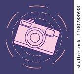 photographic camera design | Shutterstock .eps vector #1100288933