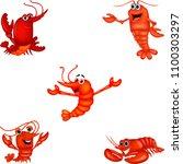 cartoon crustacean collection... | Shutterstock .eps vector #1100303297