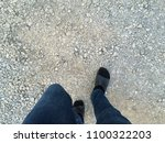people are walking alone. top... | Shutterstock . vector #1100322203