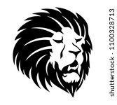 sign of a black lion on a white ... | Shutterstock .eps vector #1100328713