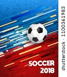soccer poster for russia world... | Shutterstock .eps vector #1100361983
