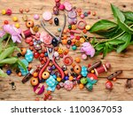 beads  colorful beads for... | Shutterstock . vector #1100367053