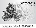 motocross particles. motocross... | Shutterstock .eps vector #1100380427