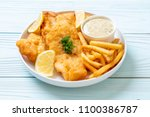 fish and chips with french...   Shutterstock . vector #1100386787