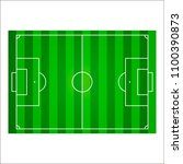football field or soccer pitch... | Shutterstock .eps vector #1100390873