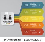 simple editable 5 steps process....   Shutterstock .eps vector #1100403233
