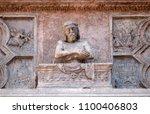 verona  italy   may 27  tomb of ...   Shutterstock . vector #1100406803
