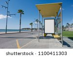 blank advertisement in a bus... | Shutterstock . vector #1100411303