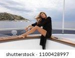 summer lifestyle portrait of... | Shutterstock . vector #1100428997