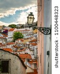 lisbon  portugal cityscape at... | Shutterstock . vector #1100448323