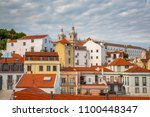 lisbon  portugal cityscape at... | Shutterstock . vector #1100448347