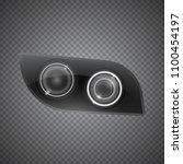 realistic car headlight...   Shutterstock .eps vector #1100454197
