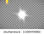 glow isolated white transparent ... | Shutterstock .eps vector #1100455883