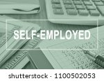 Small photo of Self employed. Business report on a desk. Employment concept.
