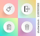 modern  simple vector icon set... | Shutterstock .eps vector #1100505383