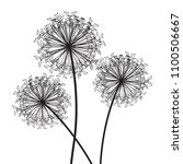dandelion set of three | Shutterstock .eps vector #1100506667