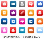 message icon  envelope... | Shutterstock .eps vector #1100511677