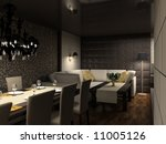 modern design interior of cafe .... | Shutterstock . vector #11005126