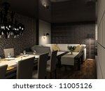 modern design interior of cafe .... | Shutterstock . vector #11005126