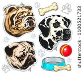 vector icons colored dog ...   Shutterstock .eps vector #1100521733