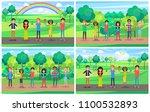 people cartoon characters... | Shutterstock .eps vector #1100532893