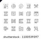 simple set video editing line... | Shutterstock .eps vector #1100539397
