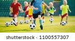 football soccer training for...   Shutterstock . vector #1100557307