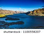 the landscape of the lake with... | Shutterstock . vector #1100558207