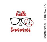 say hello to summer banner | Shutterstock .eps vector #1100567777