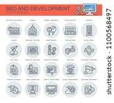seo and development. set of... | Shutterstock .eps vector #1100568497