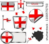 vector glossy icons of flag of... | Shutterstock .eps vector #1100570753