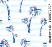 palm tree seamless vector... | Shutterstock .eps vector #1100571707