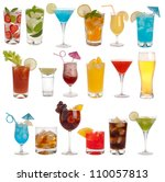 drinks  coctails and beer... | Shutterstock . vector #110057813