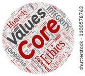 vector conceptual core values...   Shutterstock .eps vector #1100578763