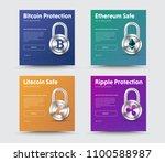 templates of social media... | Shutterstock .eps vector #1100588987