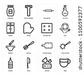set of 16 icons such as beer ...