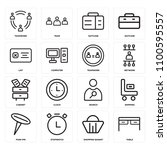 set of 16 icons such as table ...