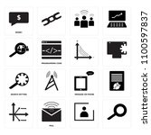 set of 16 icons such as  mail ...