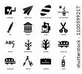 set of 16 icons such as lunch ...