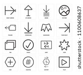 set of 16 icons such as play ...