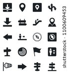 set of vector isolated black... | Shutterstock .eps vector #1100609453