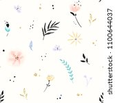 floral pattern with abstract... | Shutterstock .eps vector #1100644037