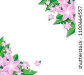 spring flower background vector ... | Shutterstock .eps vector #1100664557