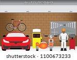 home garage department for... | Shutterstock .eps vector #1100673233