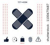 cross adhesive bandage  medical ... | Shutterstock .eps vector #1100675687