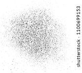 black grainy texture isolated... | Shutterstock .eps vector #1100699153