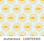 seamless background with sun.  | Shutterstock . vector #1100705303