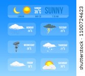 modern realistic weather icons... | Shutterstock .eps vector #1100724623